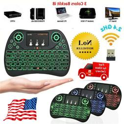 Mini 2.4GHz Cordless Keyboard Remote Control Touchpad Smart