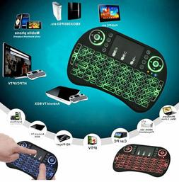 Mini 3 Colors Backlit 2.4GHz Wireless Keyboard Touchpad For