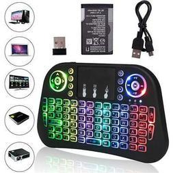 Mini Backlit i10 2.4GHz Wireless Keyboard w/ Touchpad For Wi
