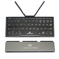 Zerolemon Mini Foldable Portable Bluetooth Keyboard, Wireles