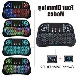 Mini I10 Remote Backlit 2.4G Wireless Keyboard Touchpad Fly