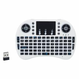 MINI i8 2.4GHz 3-color Backlight Wireless Keyboard with Touc