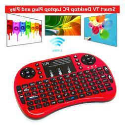 Rii mini i8+ Red mini keyboard with Backlight for Amazon fir