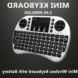 Rii mini i8+ white wireless keyboard WITH BACK LIT touchpad