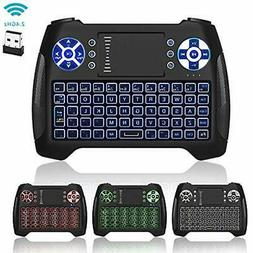 Mini Keyboard Backlit, Jelly Comb Rechargable Wireless Small