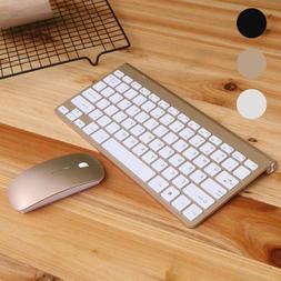 Mini USB 2.4G Wireless Keyboard + Mouse Combo Cordless Kit f