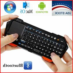 mini wireless bluetooth keyboard touchpad ios android