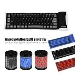 Mini Wireless Bluetooth Silicone Foldable Keyboard For iPhon