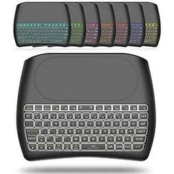 Mini Wireless Keyboard with Touchpad Mouse, 2.4Ghz Backlit