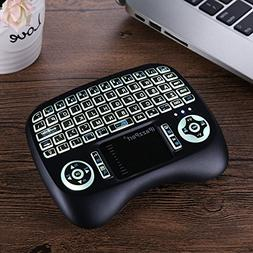 Intelligent Anti-Shake Mini Wireless Keyboard with Touchpad
