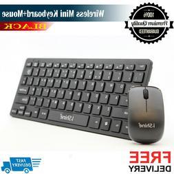 Mini Wireless Keyboard and Mouse Set Mini 2.4GHz Ergonomic f