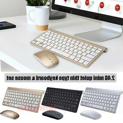 Mini Wireless Keyboard And Mouse Set Waterproof 2.4G For Mac