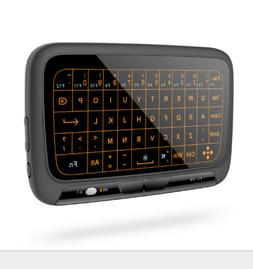 Mini Wireless Keyboard Full Touchpad 2.4G Backlit Remote Con