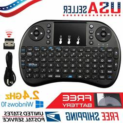Mini Wireless QWERTY Keyboard Touchpad For Laptop PC Android