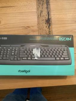 Logitech Mk320 Wireless Desktop Set, Keyboard/mouse, Usb, Bl