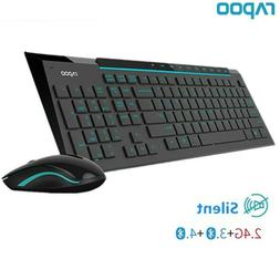 Rapoo Multimedia Wireless Keyboard Mouse Combos with Fashion