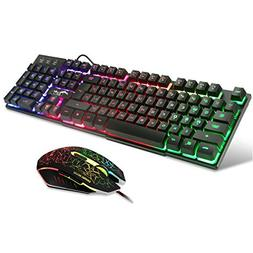 BAKTH Multiple Color Rainbow LED Backlit Mechanical Feeling
