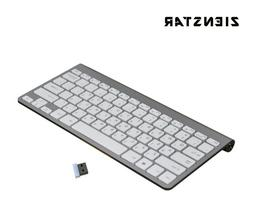 Mute 2.4G Ultra Slim Apple Mac Style Wireless Hebrew Keyboar