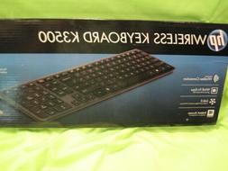 New in Sealed Box HP Black Wireless K3500 Keyboard