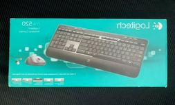 New Logitech Wireless Combo Keyboard and Mouse MK520 - New S