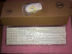 NEW Dell Wireless Keyboard & Mouse combo WHITE 1VY5C KM636 D
