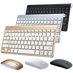 Mini Wireless Keyboard & Mouse Set Waterproof 2.4G For Mac A