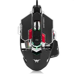 Waymine 4000DPI Optical Wired Professional Gaming Mouse Prog