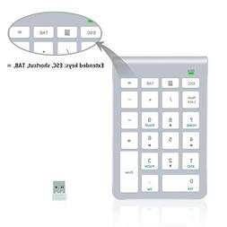 2.4G Number Pad, Alcey Wireless 22 Keys Multi-Function Numer