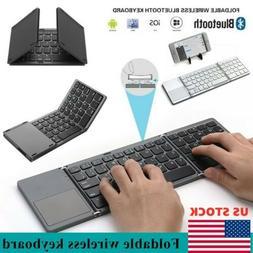 Portable Foldable keyboard office mini wireless keyboard wit