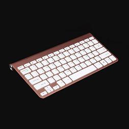 SODIAL Portable Mute Keys Keyboards 2.4G Ultra Slim Wireless