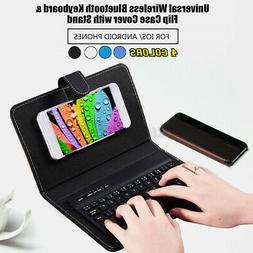 Portable Wireless bluetooth Keyboard +Leather Case Cover for