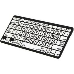 LogicKeyboard Large Print Black on White Bluetooth Mini Keyb