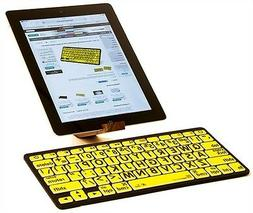 LogicKeyboard Large Print Black on Yellow Bluetooth Mini Key