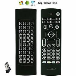 ProChosen 2.4G Backlit Air Mouse Remote, Wireless Keyboard a