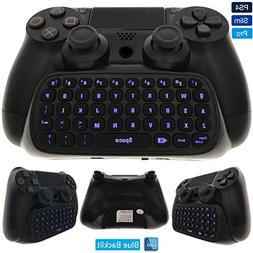 Whiteoak PS4 Keyboard, Wireless Mini Backlit Chatpad, Great