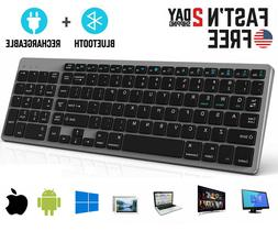 Rechargeable Bluetooth Wireless Keyboard PC Mac Apple iPhone