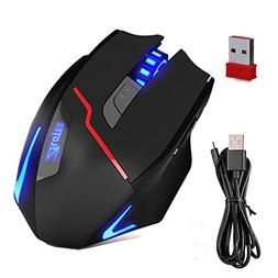 Zelotes Rechargeable Dual-Mode Wired / Wireless gaming Mouse