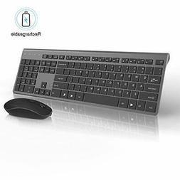 Rechargeable Wireless Keyboard and Mouse Combo-J JOYACCESS