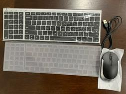 Rechargeable Wireless Keyboard Mouse Combo, Jelly Comb