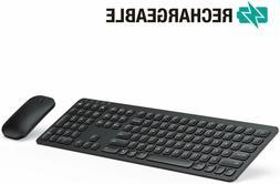 rechargeable wireless keyboard mouse ks037 ergonomic ultra