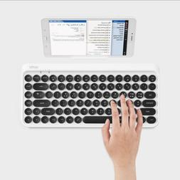 ACTTO Retro Design Tenkeyless Mini Bluetooth Keyboard White