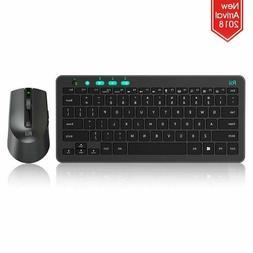 Rii (2018 RKM709 2.4Ghz Ultra-Slim Wireless Keyboard and Mou