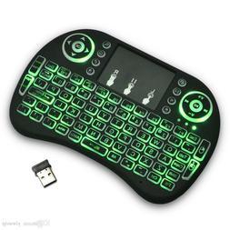 Rii i8+Backlit Mini Wireless Touch Keyboard, Backlit, Touchp
