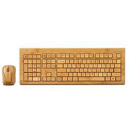 Sengu SG-KG308-N+MG93-N 2.4GHz Bamboo Wireless Keyboard and