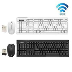 Slim 2.4GHz Cordless Gaming Keyboard + Optical Mouse Combo S