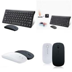Slim 2.4GHz Wireless Keyboard and Cordless Mouse Combo Set F
