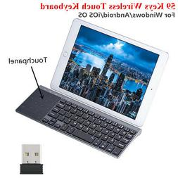 Slim Wireless 2..4Ghz 1200DPI Keyboard with Touchpad Univers