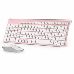 Slim Wireless Keyboard and Mouse,J JOYACCESS 2.4G Full Size