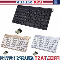 Slim Wireless Keyboard High Quality 2.4G For Mac Laptop PC C