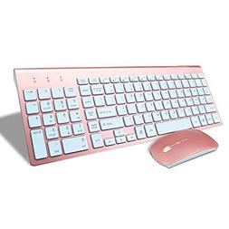 SODIAL Smooth Body 2.4GHz Wireless Keyboard and Mouse Combo